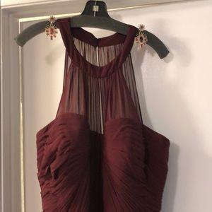 Floor length Wine Red Camille dress